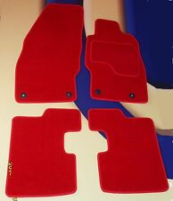 VAUXHALL CORSA D & SRi 2007 - 2015 BRIGHT RED CARPET CAR MATS WITH FRONT CLIPS B