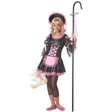 Girl JRs LITTLE BO PEEP Costume Shepherd Dress Bonnet Pre Teen Tween Large 10 12