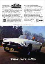 MG MGB 1975 RETRO POSTER A3 PRINT FROM CLASSIC ADVERT