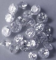 0.058 cts total Great lot X10 River D natural loose round diamonds 1.00-1.10 mm