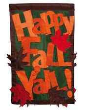 Evergreen Enterprises Regular Sized Happy Fall Y'all Falling Leaves Flag