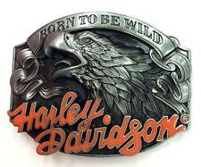 Born To Be Wild-HD Biker Belt Buckle-Solid-Motorbike-Custom Motorcycle-Chopper