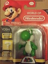World of Nintendo 4 pollici SUPER MARIO BROS. Yoshi Action Figure-Nuovo In Magazzino
