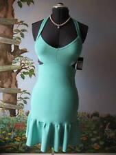 Guess Green Scuba Cutout Halter Dress SZ XL NWT $138