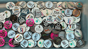 BATCH 8 ASSORTED PGA CHAMPIONSHIP TOUR TPC EVENT COURSE GOLF BALL MARKERS 2020 +