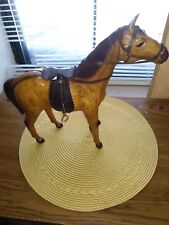 Horse Statue Leather Wrapped with Glass Eyes