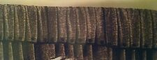 JC Penney Flipover Window Valance Button Detail 53 x 14.5 Black & Tan NEW