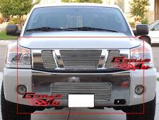 Fits 2008-2014 Nissan Titan Billet Grille Combo Upper+Lower