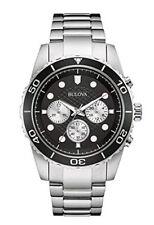 Bulova Men's 98A154 Quartz Rotating Bezel Chronograph Black Dial 48mm Watch