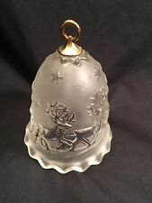 Beautiful Mikasa Frosted and Clear Christmas Silent Night Santa  Reindeer Bell