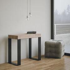 Tavolo consolle allungabile Rovere Natura Mod. Tecno salotto soggiorno cucina