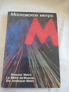 Livre sur LE METRO de MOSCOU, édition 1980