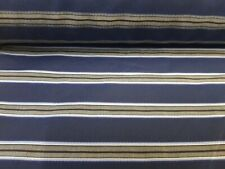 3mts SUPER HIGH QUALITY 100% 2-FOLD COTTON ITALIAN STRIPE FABRIC NAVY/BEIGE