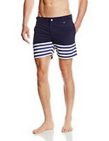 HOM swimming shorts board patterned lined Yacht beach pool sexy trunks summer