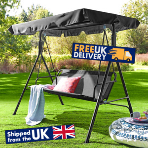3 Seater Swing Chair Garden Seat With Sun Canopy Outdoor Patio Bench Furniture
