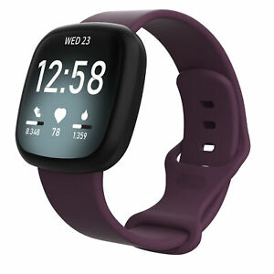 Replacement For Fitbit Versa 3/Sense Silicone Rubber Sports Band Strap Wristband