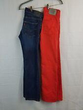 Lot of 2 Levi's 510 Super Skinny 511 Slim Orange Blue 14 REG 27x27