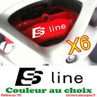 6 Stickers Sline pour étrier de frein - Autocollants pour Audi S line - 161