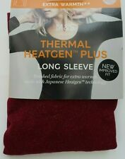 M&S Thermal Heatgen Plus Thermal Long Sleeve Top size 8 Crimson Sparkle £18