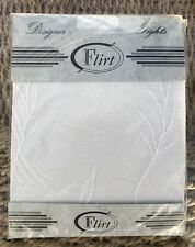 Flirt White Nottingham Lace Designer Tights, One Size Regular BNWT, Vine Pattern