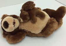 Gund Snoring Papa & Little Bear Plush #320441 Brown Sleeping Laying Works 15""