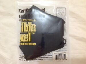 PITTSBURGH STEELERS OFFICIALLY LICENSED TERRIBLE TOWEL FACE COVERING MASK Black