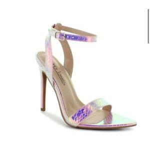 Women's Iridescent Pink Open Toe Heels Size 13 Wide NWOB