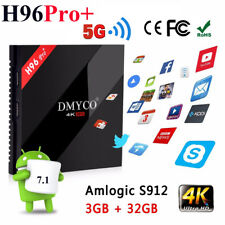 H96 Pro+ TV Box Android7.1 3G+32G Octa Core Amlogic S912 5G WIFI 4K Media Player