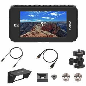 "FOTGA A50 5""Video Screen Field Monitor HDMI 4K For Blackmagic SONY P Canon CINEM"