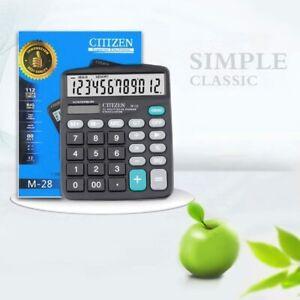 Solar Powered Calculator Standard Functions M-28 Office School Big Button Design