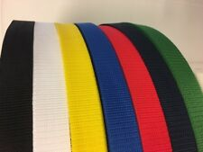 25mm WEBBING TEXTURED WEAVE POLYPROPYLENE LEADS,STRAP CHOICE OF COLOUR