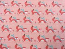 CRIB SHEET/FITTED/ FLANNEL/HANDMADE- RED FOX WITH BLUE SCARVES ON THE RUN