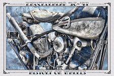 HARLEY DAVIDSON MOTORCYCLE KNUCKLEHEAD OLD SCHOOL ART PRINT