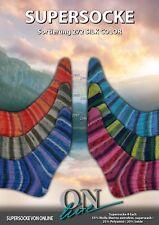 Sockenwolle Supersocke ONline Sortierung 272 Silk Color mit 20 % Seide 600 g