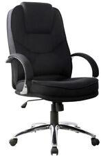 Rome2 Black Fabric Executive Office Chair Computer Lumbar Graded 95% (RRP:£178)