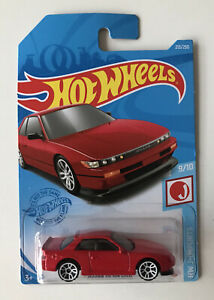2021 HOT WHEELS #213 - Nissan Silvia S13 (Red - Case M Long Card) New