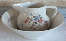 service toilette broc cuvette porcelaine Limoges pitcher and bowl