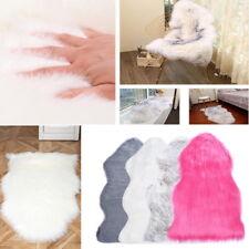 Faux Fur Sheepskin Rug Faux Fleece Floor Mat Carpet Soft Chair Cover Seat Pad
