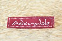Adorable Words Letter 10pcs 10x40mm Woven Clothing Label Tags Sew On