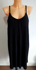 NEW Ex Store Ladies BLACK CORAL Jersey dress PLAITED STRAPS Size 8 - 20