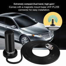 VHF/UHF Dual Band Antenna Vehicle Car Mobile Radio +Magnetic Mount Base RG-58