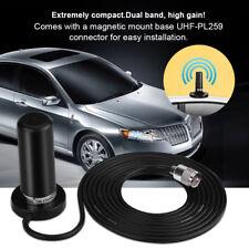 VHF/UHF Dual Band Antenna Vehicle Car Mobile Radio +Magnetic Mount Base Cable