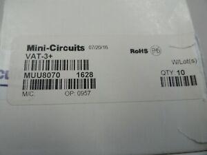 Lot of 10 Mini-Circuits VAT-3+ 3 dB Fixed Attenuator, DC - 6000 MHz, 50Ω