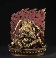 Mahakala. Sehr Seltene alte Figur. Old gilt bronze statue (Buddha Tibet Tibetan)