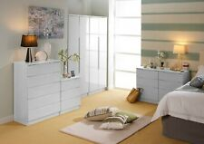White High Gloss Tall Wide Chest Drawers Draws Bedroom Furniture Complete Range