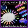 Galaxy Duochrome Mirror Powder Chameleon Multi Chrome Nails art colour changing