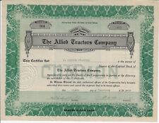 South Dakota 1919 The Allied Tractors Company Stock Certificate