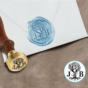 Custom Initials Wax Seal Stamp Wedding Personalized Sealing Logo Birthday Gift