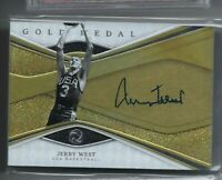 JERRY WEST 2019-20 PANINI OPULENCE GOLD MEDAL TEAM USA ON CARD AUTO AUTOGRAPH/79