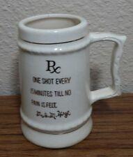 "3"" tall RX Prescription Shot Glass Mug Dr I.M. High Ceramic Mug w/ Gold Letters"